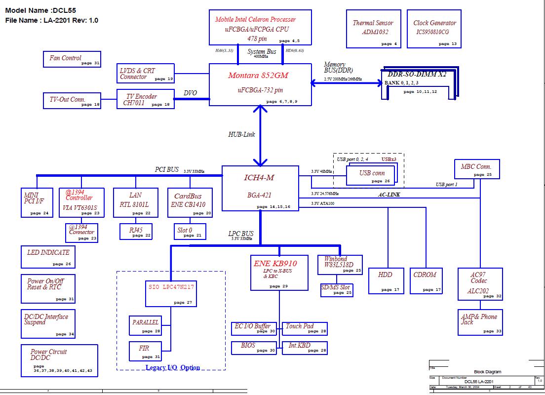 Схема платы la 5911р